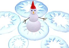 Free 3D-Snowman On White Stock Images - 313364