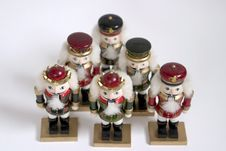 Free Five Nutcrackers Royalty Free Stock Photos - 313638