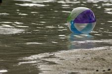Beach Ball Floating Royalty Free Stock Images