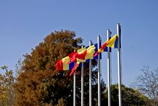 Free Flags On Autumn Sky Stock Images - 317454