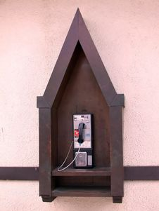 Public Phone Stock Photo