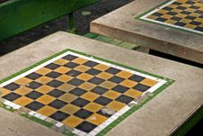 Free Park Chess Table Royalty Free Stock Image - 319306