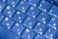 Free Computer Keyboard In Blue Stock Photos - 3100773