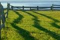 Free Fence Shadows At Sunrise Stock Image - 3104731