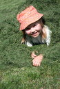 Free Girl In The Grass Royalty Free Stock Image - 3108956