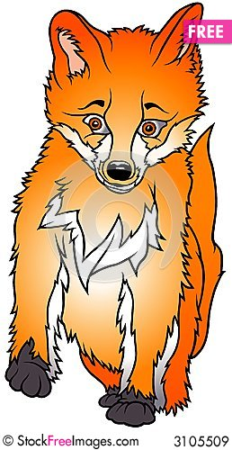 Free Sitting Fox Royalty Free Stock Images - 3105509