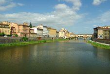 Arno River, Florence, Italy Royalty Free Stock Photos