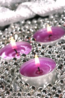 Free Pink Candles Royalty Free Stock Photo - 3100875