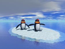 Free Penguins In The Ice Royalty Free Stock Photos - 3101508