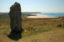 Free Menhir Near The Beach Stock Images - 3102034