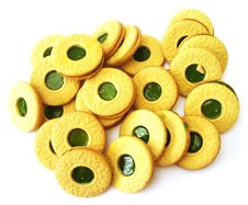 Cookies With Kiwi Jelly Royalty Free Stock Photo