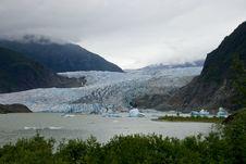 Glacier In Juneau Alaska Stock Photos