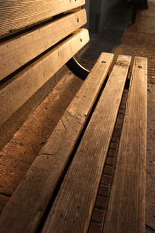Free Wooden Bench Morning Royalty Free Stock Photo - 3103415