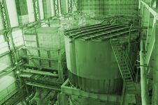 Tanks Inside Energy Plant Royalty Free Stock Image