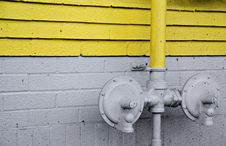 Free Pipes On A Wall Stock Photography - 3103922