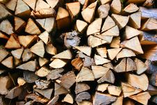Woodpile Of Fire Wood Stock Images