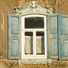 Free Traditional Russian Window Royalty Free Stock Photos - 3104408