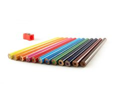 Free Coloured Pencils And Pencil Sh Royalty Free Stock Photography - 3104857