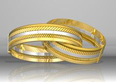 Free Golden Rings Royalty Free Stock Photography - 3105137