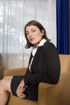 Free Businesswoman Sitting Stock Photo - 3106120