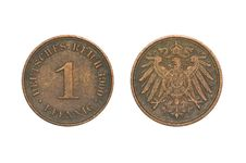 Free Old Coin, 1900, One Pfennig Stock Photos - 3106143