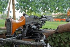 Free Machine Gun Displayed Royalty Free Stock Photography - 3107047
