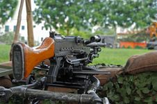 Free Machine Gun Displayed Stock Image - 3107051