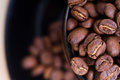 Free Coffee Mug Full Of Coffee Beans Stock Image - 31005991