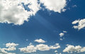 Free Bright Blue Cloudy Sky Royalty Free Stock Photo - 31008265