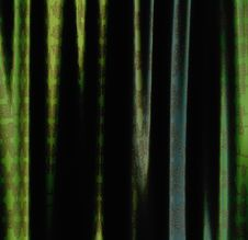 Green Curtains Royalty Free Stock Photo