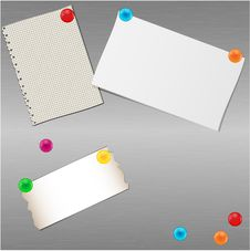 Paper Folias And Magnets Stock Photos