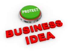 Free 3d Button Protect Business Ideas Royalty Free Stock Image - 31005306