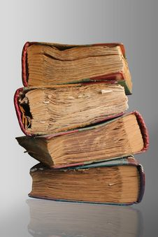Free Four Old Books Royalty Free Stock Image - 31005486
