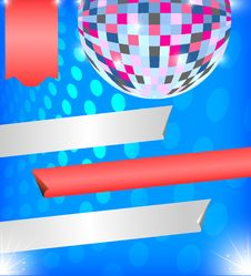 Free Brilliant Background With Disco Ball Royalty Free Stock Photo - 31007005