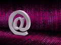 Free E-mail @ Sign On Pixel Graphic Background Stock Photo - 31013730