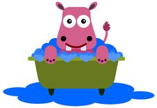 Free Hippo In A Tub Royalty Free Stock Images - 31018069