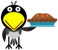 Free Magpie With A Pie Stock Photo - 31018070