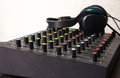 Free DJ Mixer With Headphones Royalty Free Stock Photos - 31024678
