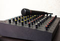Free DJ Mixer With Microphone Stock Photo - 31024680