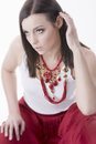 Free Woman With Necklace Stock Photos - 31028303