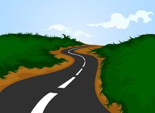 Free Country Road And Nature Royalty Free Stock Image - 31021876