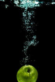 Isolated Apple Splashing Stock Photos