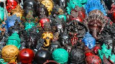 Free Detail Of Various Wooden Carved Masks Stock Photo - 31028250