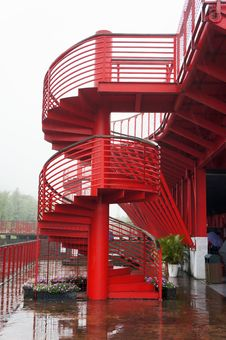 Metal Spiral Stairway Royalty Free Stock Images