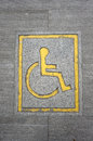 Free Wheelchair Logo On The Floor Royalty Free Stock Image - 31030866