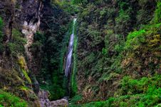 Free Deep Forest Waterfall Landscape View Stock Photo - 31036630
