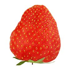 Free Red Ripe Strawberriy Isolated On White Background. Royalty Free Stock Images - 31039889