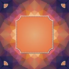 Free Colorful Kaleidoscope Vector Background With Label Royalty Free Stock Photos - 31040808