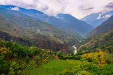 Free Tropical Landscape Mountain Valley, Annapurna Area, Nepal Stock Images - 31043524