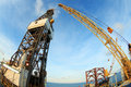Free Jack Up Offshore Oil Drilling Rig - Fish Eye Angle Perspectiv Stock Images - 31058614